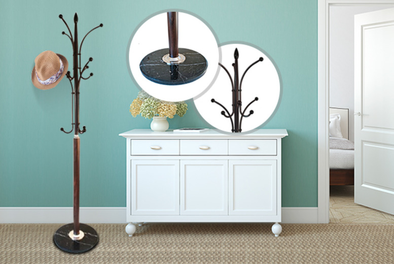 £19.99 instead of £48.99 (from Kings Furnishings Ltd) for a 12-peg hat and coat stand with a marble base - save 59%
