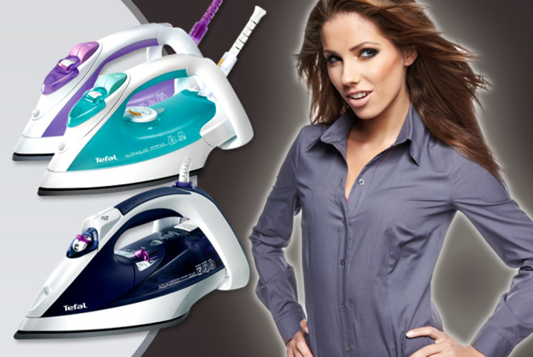 £12.99 instead of £45 for a choice of Tefal ceramic-plated steam iron - save a smooth 71%