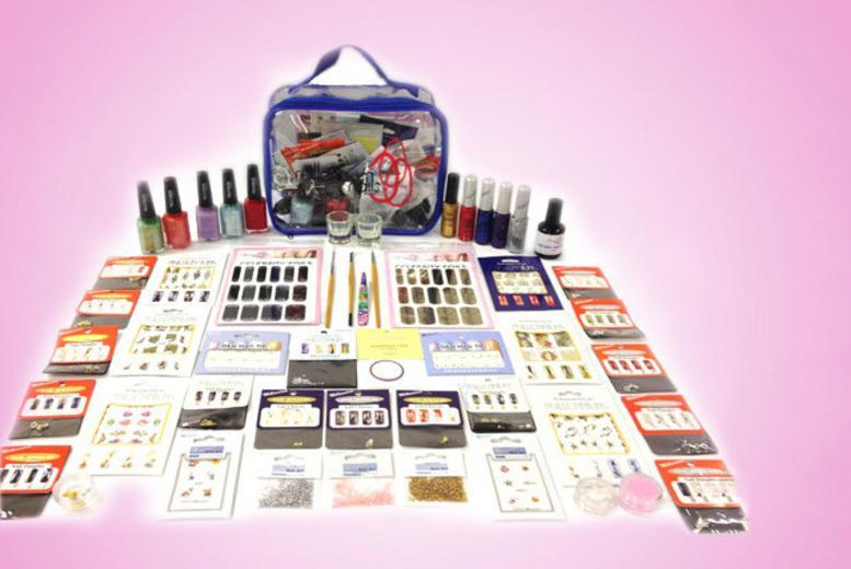 £27 instead of £173.63 (from Millennium Nails) for a 65-piece Mega Millennium nail art kit including a presentation bag - save 84%