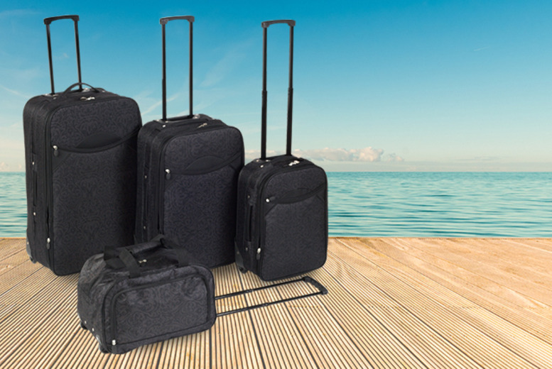 £54 instead of £93.01 for a 4-piece Damask luggage set from Wowcher Direct - travel in style and save 42%