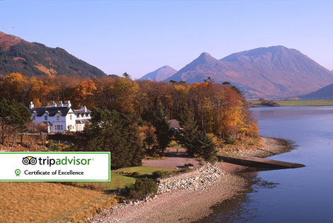 From £59 for an overnight stay for two with breakfast, late check out and bubbly, from £99 for two nights, from £139 for three nights at Loch Leven Hotel - save up to 30%