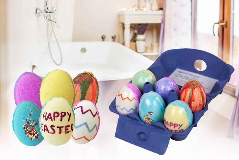 Image of Six Pack Of Easter Egg Bath Bombs   Living Social