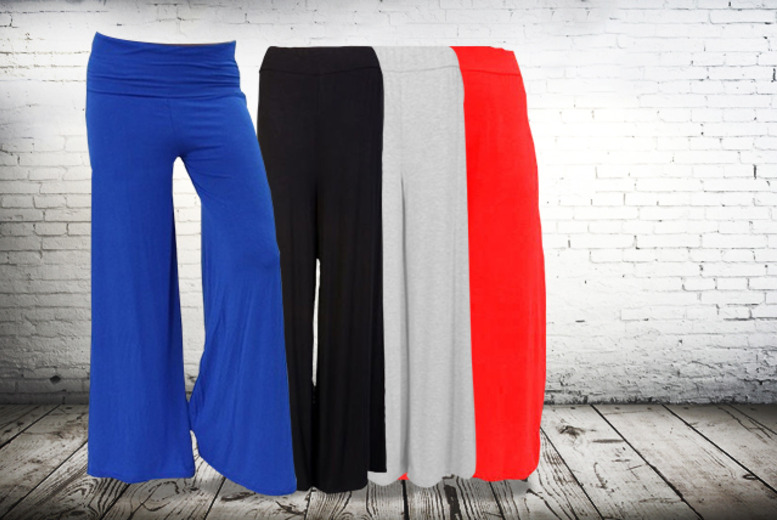 £12 instead of £24.99 (from Top Notch Fashion) for a pair of palazzo pants in a choice of 8 colours - save 52%