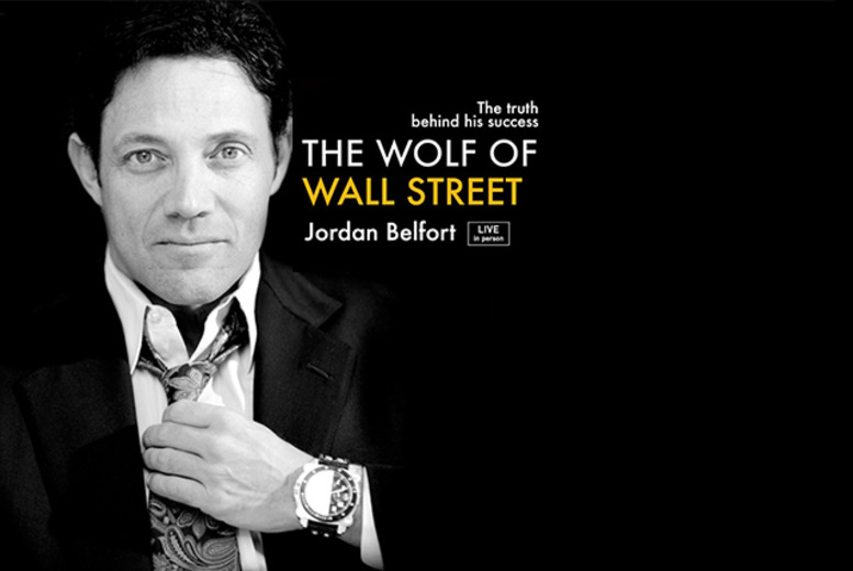 £99 for a gold tkt to 'The Wolf of Wall Street' Jordan Belfort Live at the ExCel Centre, £159 for VIP tkt, £339 for Platinum tkt - save up to 23%