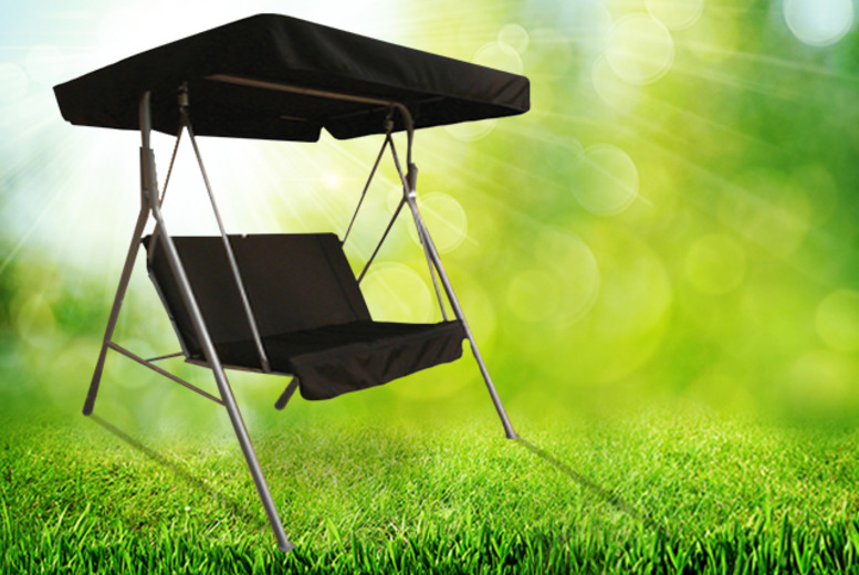 £49 for a 2-seater swinging hammock with waterproof canopy from Wowcher Direct