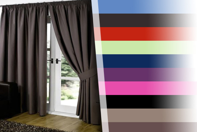From £9.99 for a pair of blackout curtains in a choice of colours and sizes from Wowcher Direct - save up to 50%