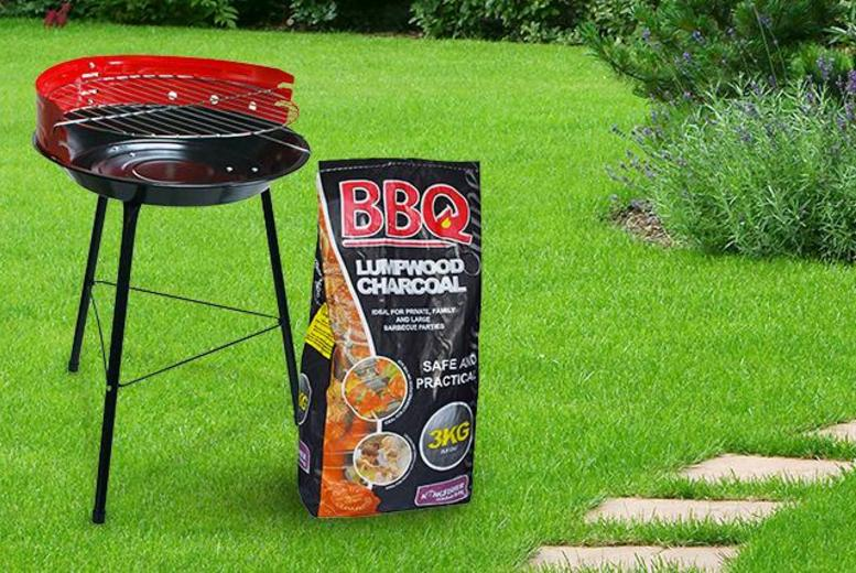 £9.99 for a 14-inch BBQ and 3kg bag of charcoal from Wowcher Direct