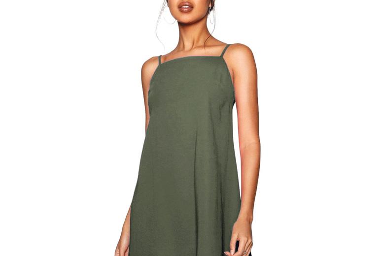 Image of Basic Mini Swing Dress | Black | Living Social