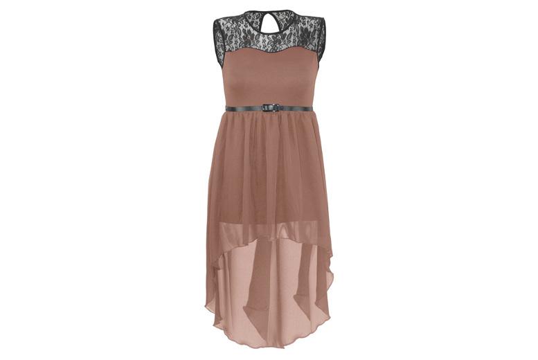 Image of Chiffon Dress | Black | Living Social
