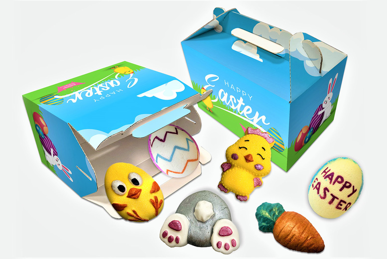 Image of 6 Piece Easter Bath Bomb Gift Box   Living Social