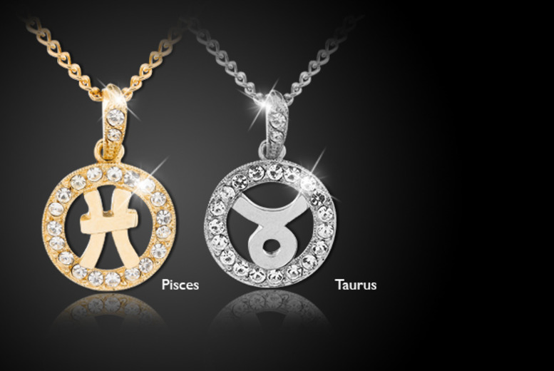 £10 instead of £75 (from Sardi Designs) for a handmade gold or silver-plated crystal zodiac pendant - save an astronomical 87%