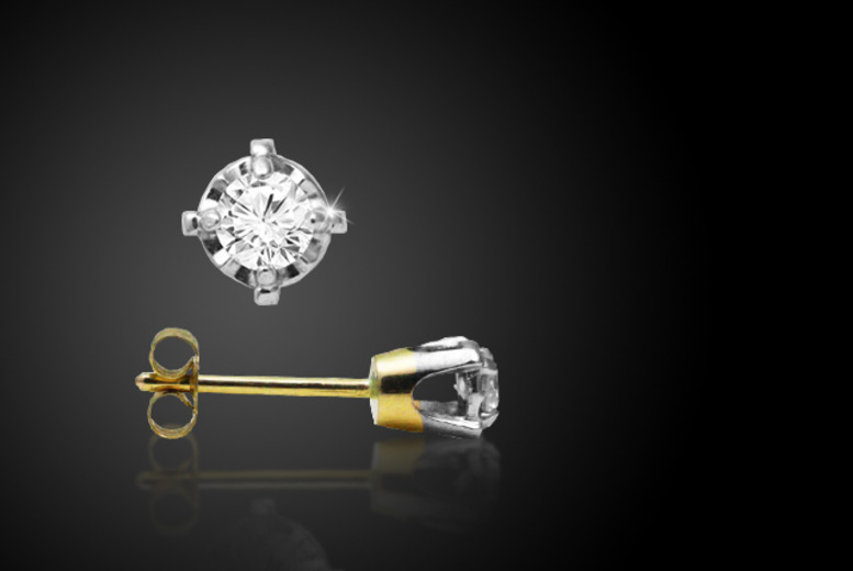 £64 (from Beautiful Jewellery Company) for a pair of 0.05ct diamond earrings mounted on 9ct gold, £119 for 0.1ct or £209 for 0.2ct - save up to 58%