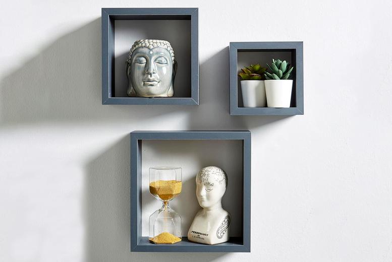 Image of 3 Cube Floating Shelves | White | Living Social