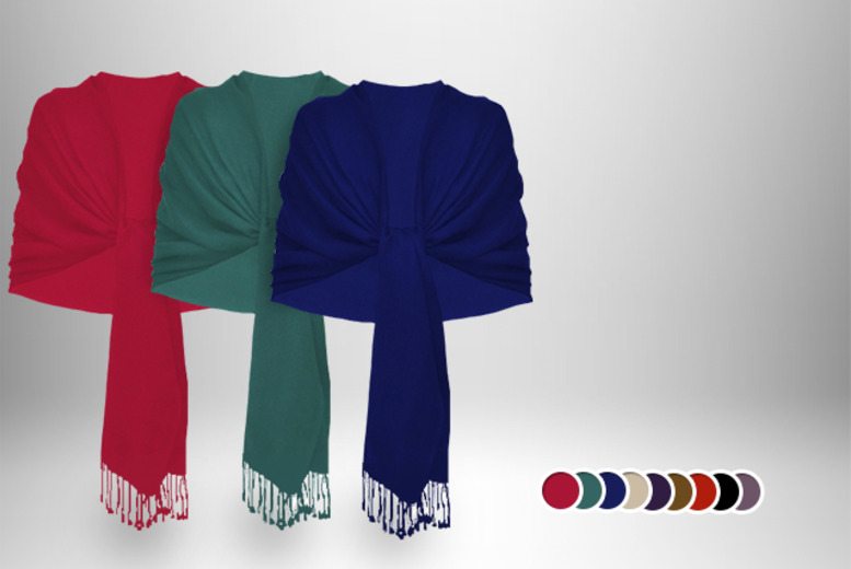 £12.99 instead of £49.99 (from MYO Fashion) for a cashmere pashmina in a choice of 9 colours - save 74%
