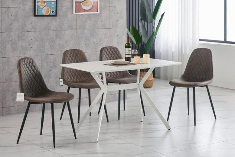 Image of 5Pc Luxor Dining Furniture Set | Brown | Living Social