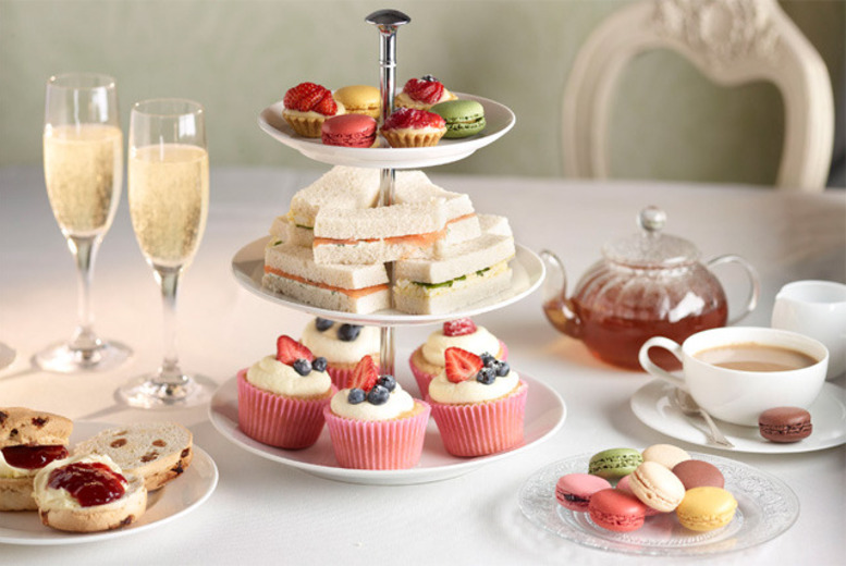 £27 for a Champagne afternoon tea for 2 inc. sandwiches, scones, cakes and more at The Colonnade Hotel, Warwick Avenue - save up to 56%