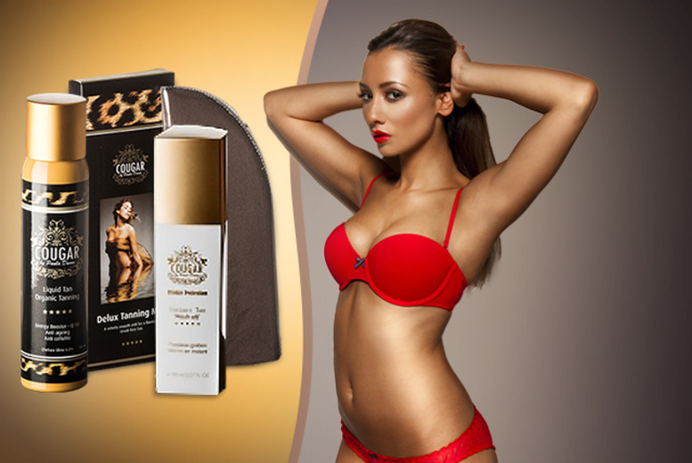 £15 instead of £50.97 (from Cougar Products) for organic tanning mist, Bronze Perfection instant tan and a tanning mitt - save 71%