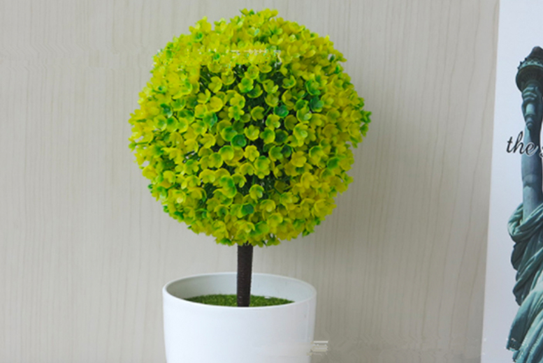 Image of Artificial Outdoor Ball Plant | White | Living Social