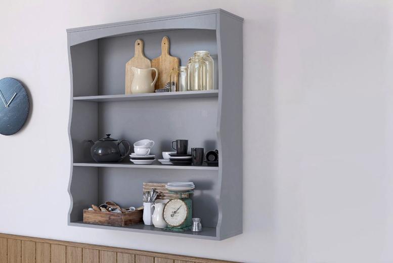 Image of 3-Tier Kitchen Wall Shelf | Grey | Living Social