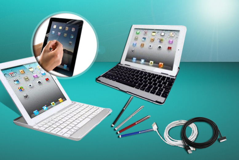£17.99 instead of £72.99 (from Hedoo) for an aluminium iPad keyboard case, screen protector, stylus and 3-metre charging cable - save 78%