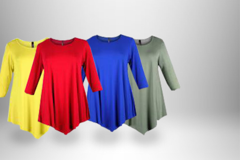 £9 instead of £25 (from Lovedrobe) for a tunic top in a choice of 10 colours, or £16 for 2 - save up to 64%