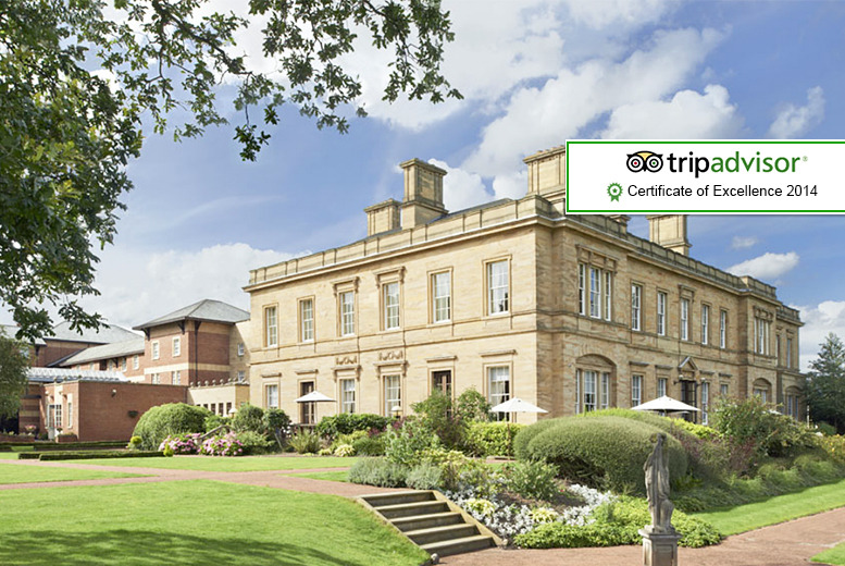 From £99 for an overnight luxury 4* Yorkshire stay for 2 at Oulton Hall Hotel including breakfast, 2-course dinner and bottle of wine - save up to 42%