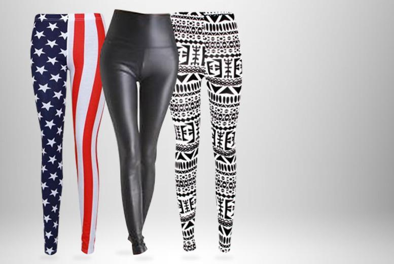 £5 (from Top Notch Fashion) for a pair of leggings in a choice of 38 designs, or £9.99 for two pairs - strut with style and save up to 75%
