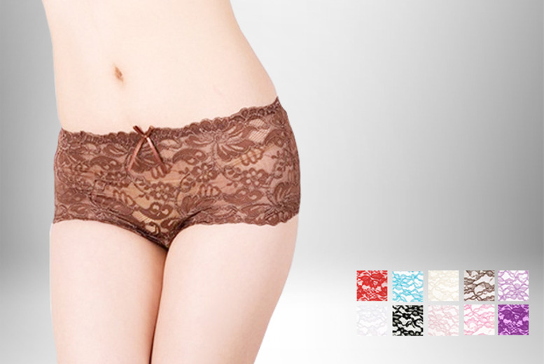 £9.99 instead of £34.99 (from Suga Rush Love) for an 8-pack of lacy French knickers in assorted colours - save 71%
