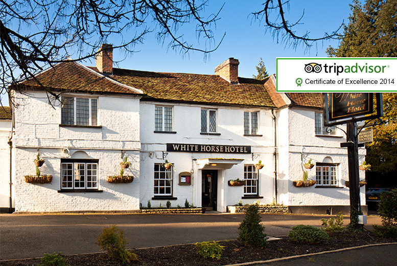 £89 (at the White Horse) for an overnight stay for 2 including a 3-course dinner, breakfast and a glass of sparkling wine each - save up to 43%