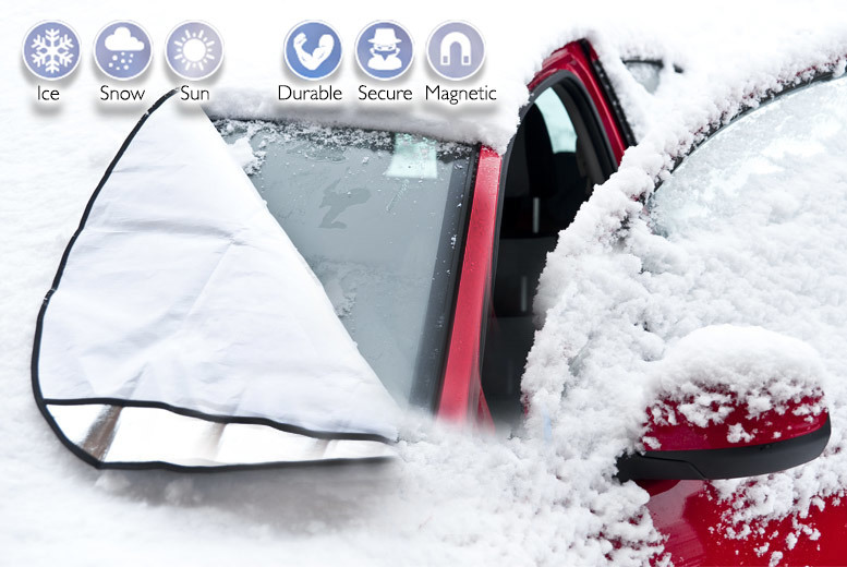 £8 instead of £35.99 (from UK Home and Garden Store) for two magnetic windscreen covers - fight the frost and save 78%