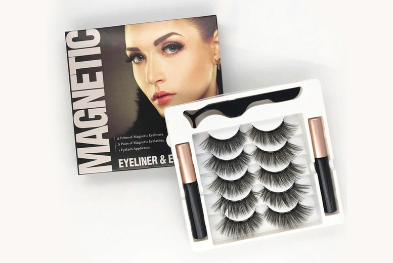 Image of 5 Pairs Of Magnetic Eyelashes | Living Social
