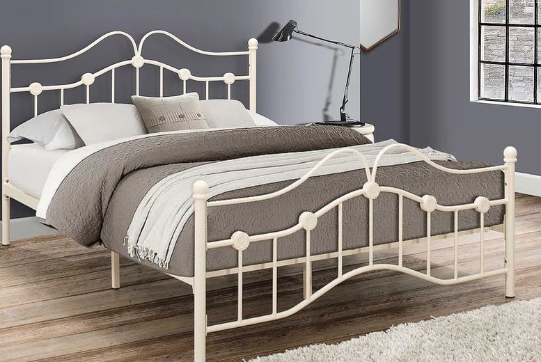 From £109 for a Traditional Victorian Cream Metal Bedframe – 3 Sizes! from FTA Furnishing – save up to 68%