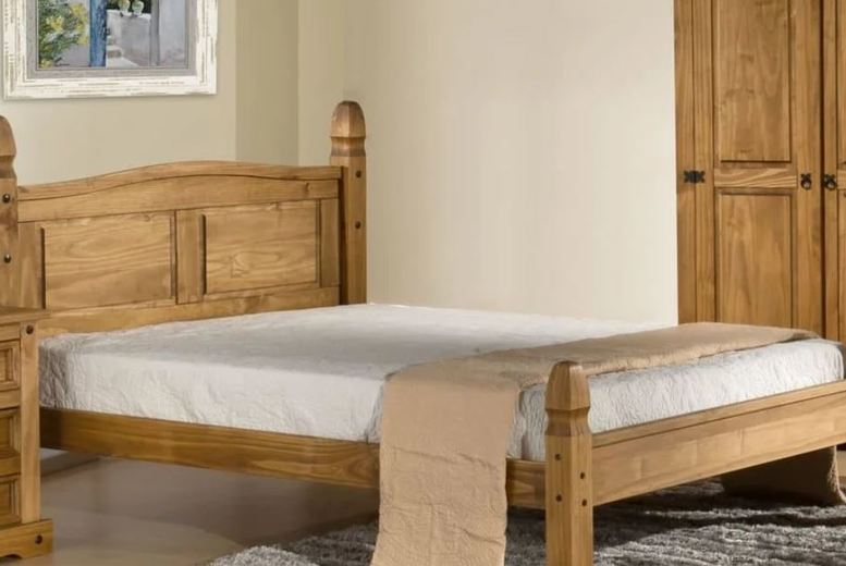 From £199 for a Traditional Solid Pine Low Foot-End Bed – 4 Sizes! from FTA Furnishing – save up to 56%