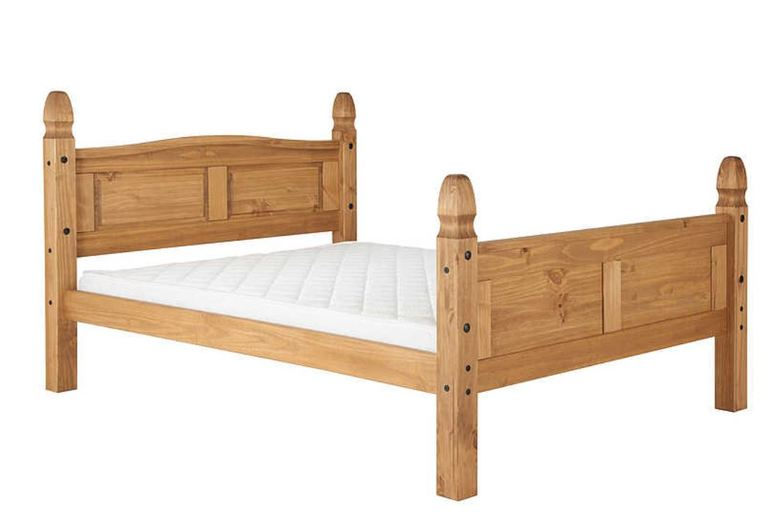 From £175 for a Traditional Charming Solid Pine High Foot-End Bed – 3 Sizes! from FTA Furnishing – save up to 56%