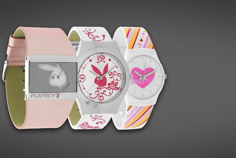 £16 instead of £65 (from Jewellery Bank) for a Playboy Watch from a choice of over 30 designs - save 75%