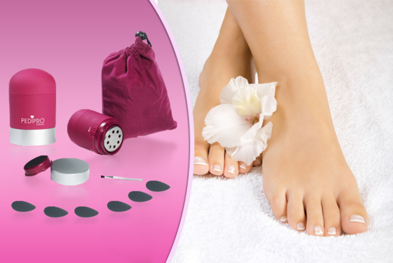 £7.99 instead of £39.99 (from Quick Style) for a 7-piece PediPro Deluxe home-pedicure system - save 80%