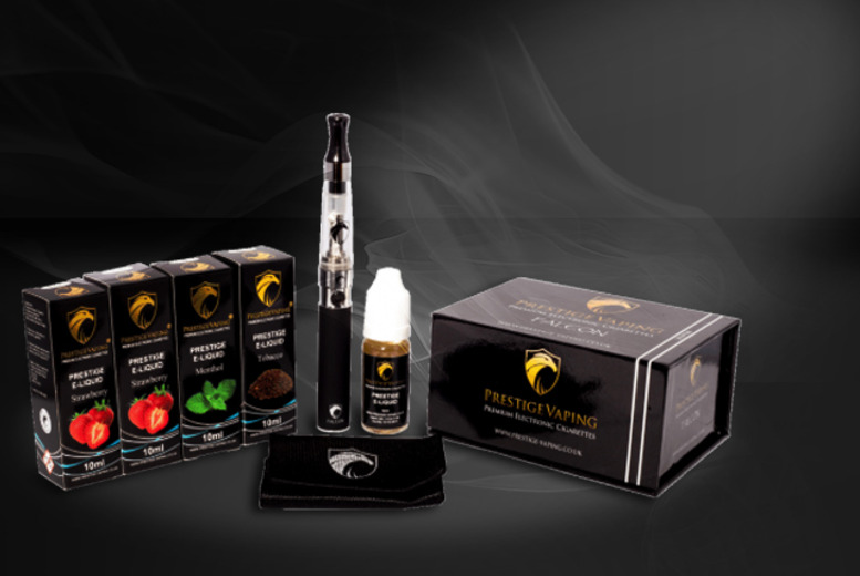 £19.99 instead of £37.96 (from Prestige Vaping) for a 10-piece e-cigarette starter kit with 4 e-liquids - pick from a variety of flavours and save 47%