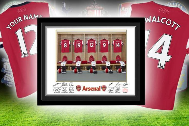 £12 (from PFG) for a framed personalised dressing room photo of your football team inc. your name, £22 for 2 or £32 for 3 - save up to 56%