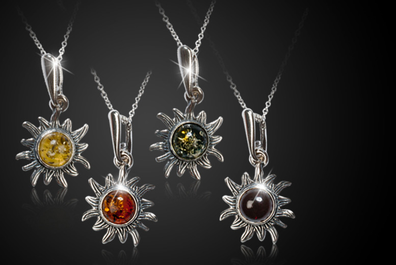 £9.99 instead of £21.01 (from HENRYKA) for an amber and 925 sterling silver sunflower pendant and chain - save 52%