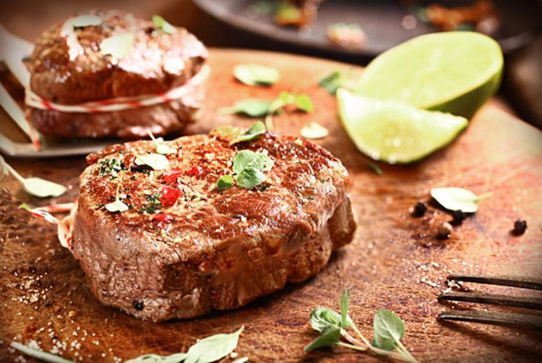 £12.50 instead of up to £35.90 for a 2-course steak dinner for 2, £24 for 4, or £35 for 6 at Oscars, Newcastle-under-Lyme - save up to 65%
