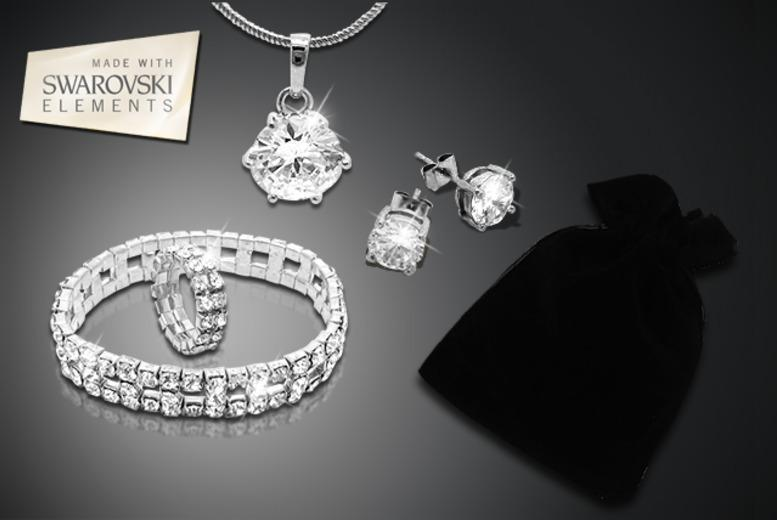 £16 instead of £200 (from Cian Jewels) for a 5-piece luxury solitaire gift bag inc. necklace, earrings, bracelet, ring & mystery gift - save 92%
