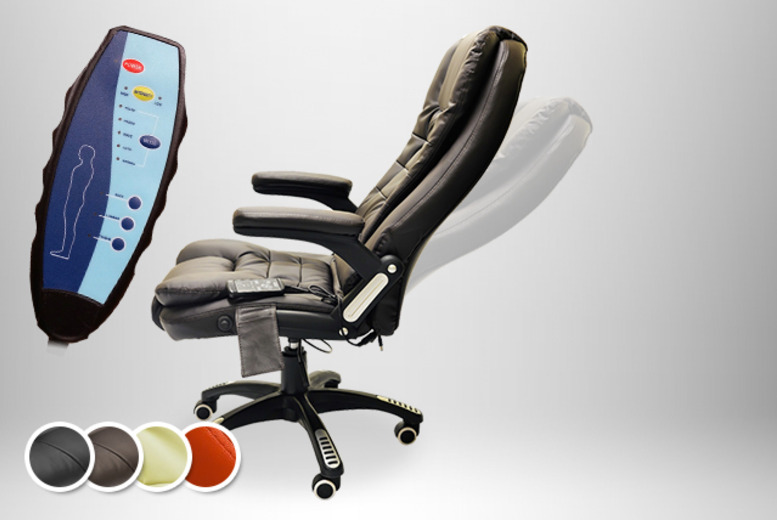 £89.99 instead of £199.99 (from Tiny Home Store) for a reclining leather-faced swivel chair with 8 vibrating massage functions - save 55% + DELIVERY INCLUDED!