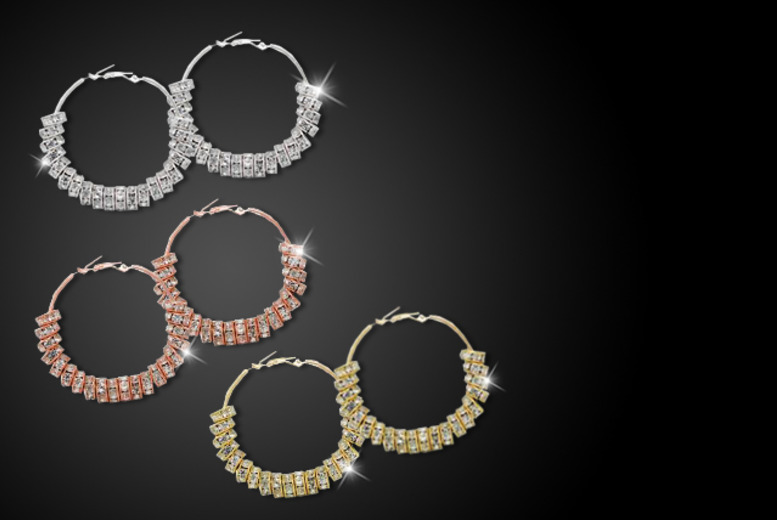 £9 (from Cian Jewels) for a pair of Swarovski Elements yellow gold, rose gold or silver plated hoop earrings, £18 for 3 pairs - save up to 82%