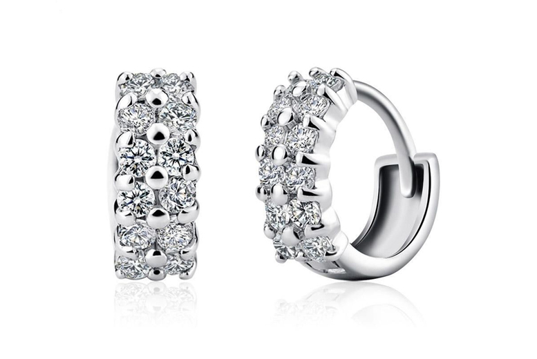 Image of 'monday To Friday' Crystal Earrings Jewellery Set | Silver | Living Social
