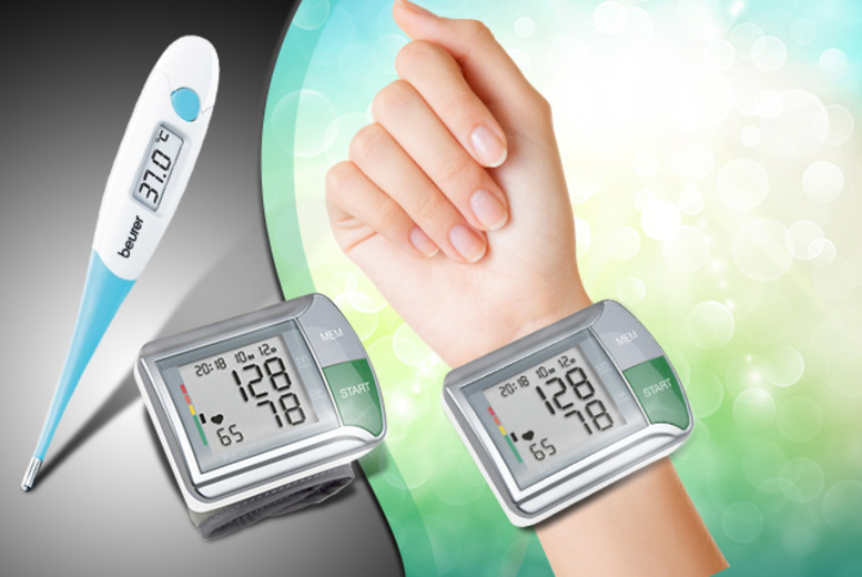 £15.99 instead of £59.99 (from from Medhealth Supplies) for a wrist blood pressure monitor HGN and thermometer - save a pulse-racing 73%