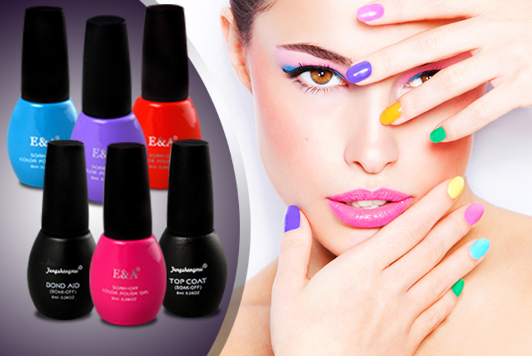 £16.99 instead of £65 (from Eden Personal Care) for a 6-piece gel nail polish set - nail summery style and save 74%
