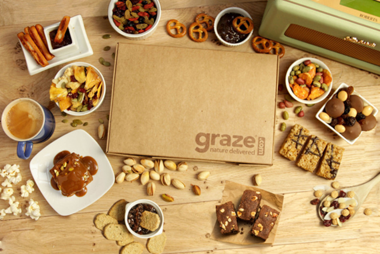 £5 instead of £13.96 (from graze) to sign up to Graze with 4 snack boxes + DELIVERY INCLUDED - choose from over 100 tasty snacks and save 64%