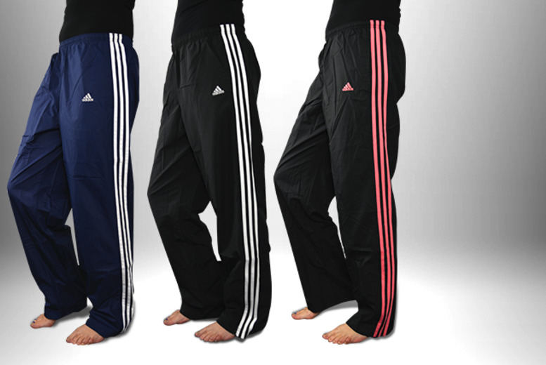 £11.99 for a pair of ladies' Adidas 3-stripe tracksuit bottoms in a choice of colours from Wowcher Direct