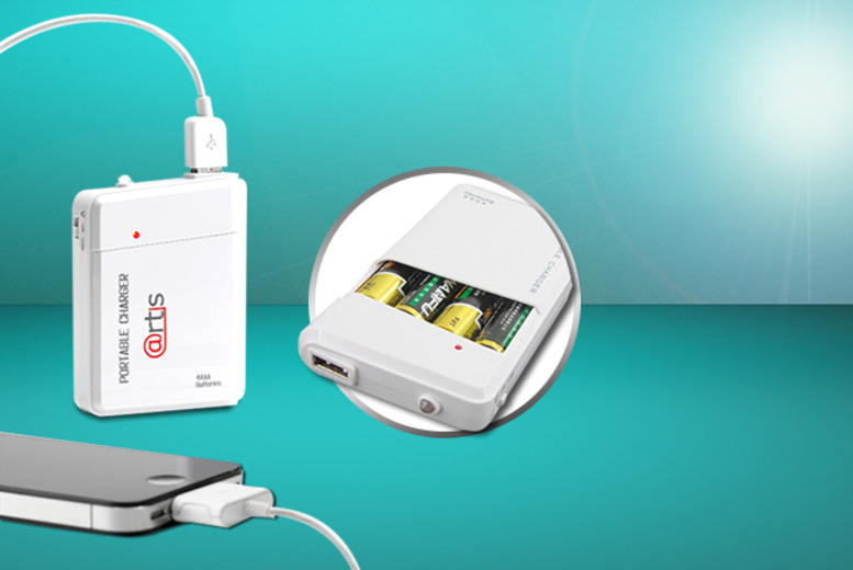 £4.99 instead of £17 (from Safield Distributions Ltd) for a portable AA USB travel charger, or £8.99 for two - save up to 71%