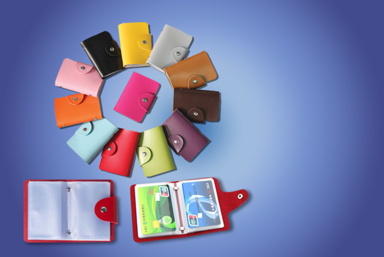 £6.99 instead of £19.99 (from London Exchainstore) for 2 faux leather card holders in a range of colours - save 65%